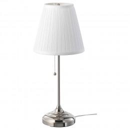اباجورة مصباح طاولة, طلاء - نيكل/أبيض الارتفاع:  55 سم
